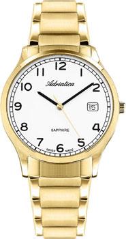 Швейцарские наручные  мужские часы Adriatica 1267.1123Q. Коллекция Twin