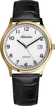 Швейцарские наручные  мужские часы Adriatica 1267.1223Q. Коллекция Twin
