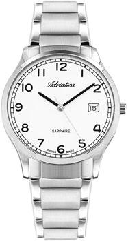 Швейцарские наручные  мужские часы Adriatica 1267.5123Q. Коллекция Twin