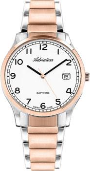 Швейцарские наручные  мужские часы Adriatica 1267.R123Q. Коллекция Twin