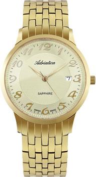 Швейцарские наручные  мужские часы Adriatica 1268.1121Q. Коллекция Twin