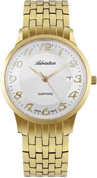 Швейцарские наручные  мужские часы Adriatica 1268.1123Q. Коллекция Twin