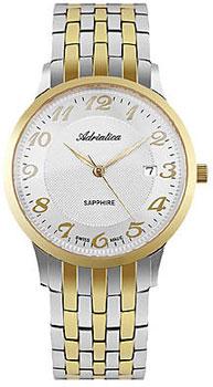 Швейцарские наручные  мужские часы Adriatica 1268.2123Q. Коллекция Twin