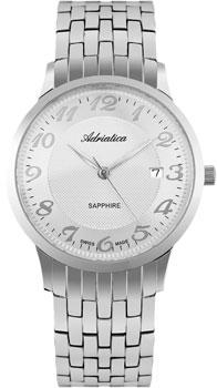 Швейцарские наручные  мужские часы Adriatica 1268.5123Q. Коллекция Twin