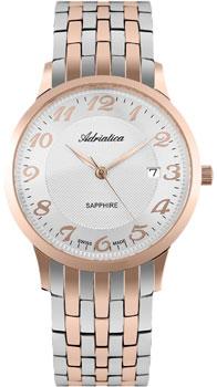 Швейцарские наручные  мужские часы Adriatica 1268.R123Q. Коллекция Twin