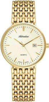 Швейцарские наручные  мужские часы Adriatica 1270.1111Q. Коллекция Twin