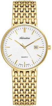 Швейцарские наручные  мужские часы Adriatica 1270.1113Q. Коллекция Twin