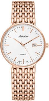 Швейцарские наручные  мужские часы Adriatica 1270.9113Q. Коллекция Twin