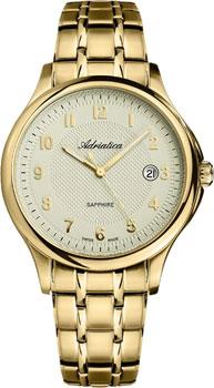 Швейцарские наручные  мужские часы Adriatica 1272.1121Q. Коллекция Twin