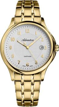 Швейцарские наручные  мужские часы Adriatica 1272.1123Q. Коллекция Twin