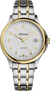 Швейцарские наручные  мужские часы Adriatica 1272.2123Q. Коллекция Twin