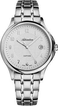 Швейцарские наручные  мужские часы Adriatica 1272.5123Q. Коллекция Twin
