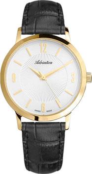 Швейцарские наручные  мужские часы Adriatica 1273.1253Q. Коллекция Twin