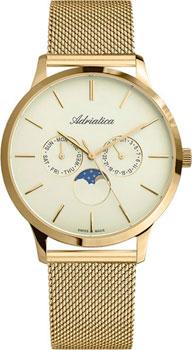 Швейцарские наручные  мужские часы Adriatica 1274.1111QF. Коллекция Multifunction