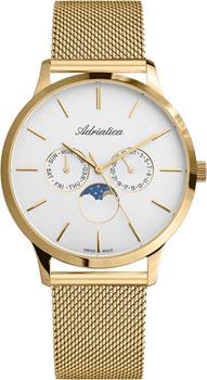 Швейцарские наручные  мужские часы Adriatica 1274.1113QF. Коллекция Multifunction
