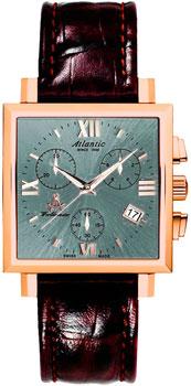 Швейцарские наручные  женские часы Atlantic 14450.44.48. Коллекция Worldmaster