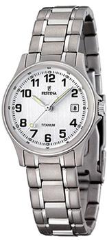 fashion наручные  женские часы Festina 16459.1. Коллекция Calendario Titanium