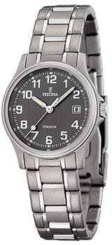 fashion наручные  женские часы Festina 16459.2. Коллекция Calendario Titanium