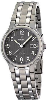 fashion наручные  женские часы Festina 16461.2. Коллекция Calendario Titanium