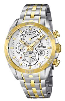 fashion наручные  мужские часы Festina 16655.1. Коллекция Crono Acero Sin Alarma