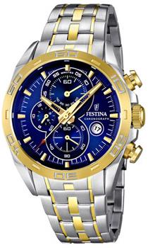 fashion наручные  мужские часы Festina 16655.3. Коллекция Crono Acero Sin Alarma