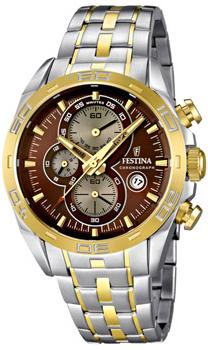 fashion наручные  мужские часы Festina 16655.4. Коллекция Crono Acero Sin Alarma