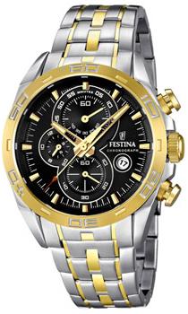 fashion наручные  мужские часы Festina 16655.5. Коллекция Crono Acero Sin Alarma