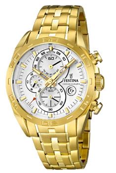 fashion наручные  мужские часы Festina 16656.1. Коллекция Crono Acero Sin Alarma