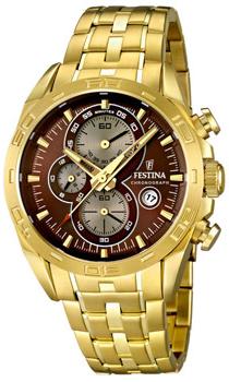 fashion наручные  мужские часы Festina 16656.4. Коллекция Crono Acero Sin Alarma