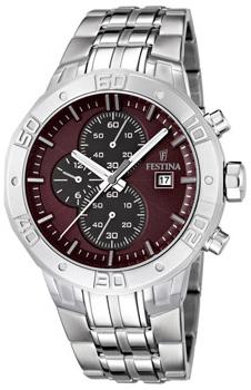 fashion наручные  мужские часы Festina 16666.2. Коллекция Crono Acero Sin Alarma
