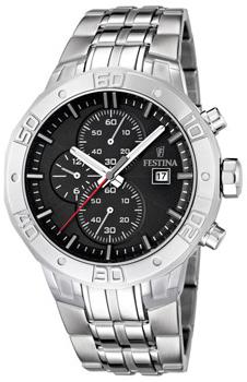 fashion наручные  мужские часы Festina 16666.4. Коллекция Crono Acero Sin Alarma