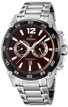 fashion наручные  мужские часы Festina 16680.3. Коллекция Crono Acero Sin Alarma