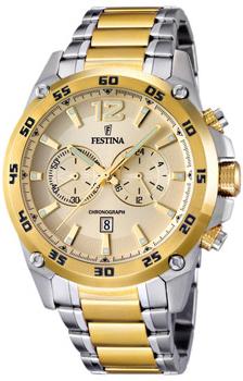 fashion наручные  мужские часы Festina 16681.1. Коллекция Crono Acero Sin Alarma