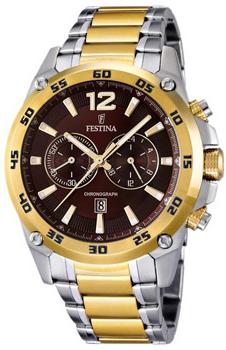 fashion наручные  мужские часы Festina 16681.3. Коллекция Crono Acero Sin Alarma