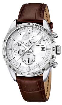fashion наручные  мужские часы Festina 16760.1. Коллекция Crono Acero Sin Alarma