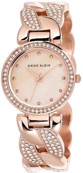fashion наручные  женские часы Anne Klein 1832CMRG. Коллекция Crystal