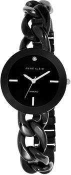 fashion наручные  женские часы Anne Klein 1835BKBK. Коллекция Diamond
