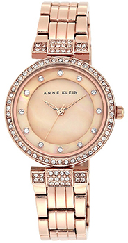 fashion наручные  женские часы Anne Klein 1852RMRG. Коллекция Crystal