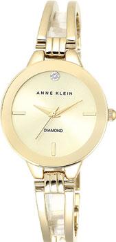 fashion наручные  женские часы Anne Klein 1942CHGB. Коллекция Diamond