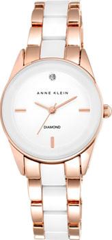 fashion наручные  женские часы Anne Klein 1974WTRG. Коллекция Diamond