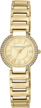 fashion наручные  женские часы Anne Klein 2036CHGB. Коллекция Crystal