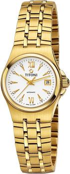 Швейцарские наручные  женские часы Titoni 23730-G-271. Коллекция Impetus