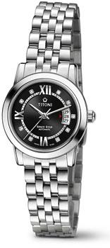 Швейцарские наручные  женские часы Titoni 23738-S-363. Коллекция Space Star