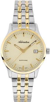 Швейцарские наручные  женские часы Adriatica 3156.2111Q. Коллекция Twin