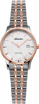 Швейцарские наручные  женские часы Adriatica 3158.R113Q. Коллекция Twin