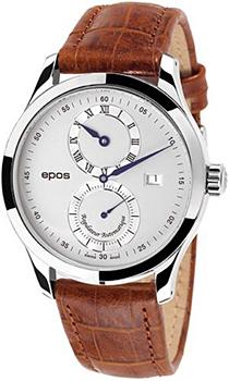 Швейцарские наручные  мужские часы Epos 3374.858.20.68.27. Коллекция Passion