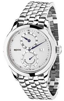 Швейцарские наручные  мужские часы Epos 3374.858.20.68.30. Коллекция Passion