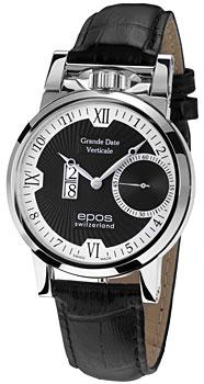 Швейцарские наручные  мужские часы Epos 3383.618.20.65.25. Коллекция Sophistiquee