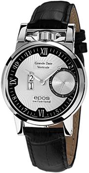 Швейцарские наручные  мужские часы Epos 3383.618.20.68.25. Коллекция Sophistiquee