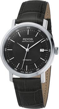 Швейцарские наручные  мужские часы Epos 3387.152.20.15.15. Коллекция Originale